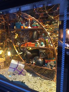 Liberty Christmas Window featuring Timber Boat by Elemental Design.