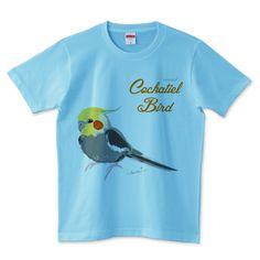 オカメインコ スケッチ ノーマル | デザインTシャツ通販 T-SHIRTS TRINITY(Tシャツトリニティ)