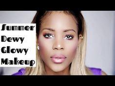 Summer Glowy Dewy Makeup | 2016