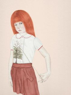 Foliage, by Tahel Maor (Watercolor) Miranda July, Painting Wallpaper, Painting & Drawing, What Is Contemporary Art, Lowbrow Art, Pop Surrealism, Art Graphique, Community Art, Cool Drawings