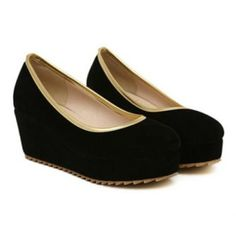Candy Color and Round Toe Design Wedge Shoes For Women