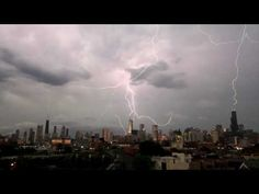Lightning strikes the 3 tallest buildings in Chicago at the same time (Sears, Hancock, and Trump)