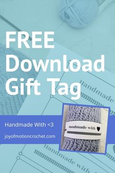 Free printable landscape tag for crochet. Free printable gift tag, quick download. Handmade with love gift tag wrap around. Easy to wrap around gift tag for handmade beanies and knitted gifts. #crochet #knit #gifttag Knitted Gifts, Crochet Gifts, Free Crochet, Free Printable Gift Tags, Free Printables, Crochet Projects, Diy Projects, Handmade Tags, Homemade Crafts