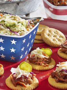 These RITZ Pulled Pork Snackers are sure to punch up any staycation snacking occasion!