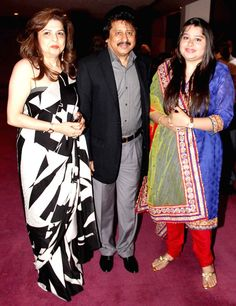 Ghazal singer Pankaj Udhas with his wife Farida and daughter Reva at Dr. Batra's Positive Health Awards 2013. #Bollywood #Fashion #Style #Beauty #Page3