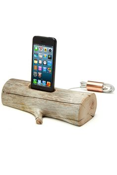 Driftwood iPhone charger -- Uncommon Goods
