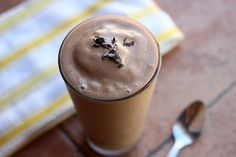 A creamy, dairy-free treat that takes just like melted chocolate ice cream (with half the calories)....