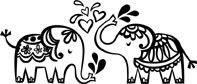 5339E - splashing elephants