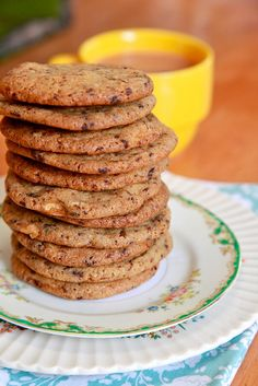I love, love, LOVE these cappuccino cookies from Joy the Baker. They're not overly sweet, and you can really taste the espresso. One of my absolute favorite cookie recipes.