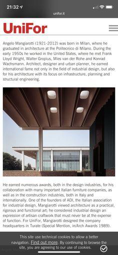 Roof Beam, Walter Gropius, Beams, Milan, United States, Architecture, Design, Arquitetura, Architecture Design