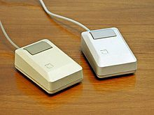 Two Apple Macintosh Plus mice, 1986,