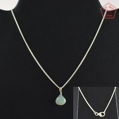Chalcedony Stone Fashion Design 925 Sterling Silver Necklace NK2963…