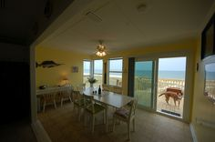The Blue Marlin dining room.  All our homes are dog friendly!
