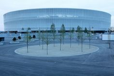 New Wroclaw Stadium, built for football championship Euro 2012 in Poland. (photo by PolandMFA, via Flickr).                                                                                                                                               ..