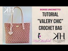 "TUTORIAL BORSA ""Valery Chic"" UNCINETTO - PUNTO CROCE STELLA CROCHET ● Katy Handmade - YouTube"