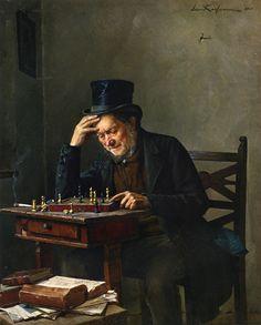 Isidor Kaufmann. The Chess Player
