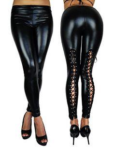 Wetlook Leggings PASSION - Sexy - 1009 Größe L Schwarz