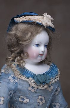 ... Early Adelaide Huret doll, c.1855. Antique dolls at Respectfulbear.com