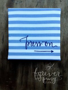 Press On // 8x8 Canvas stripe Christmas by ForeverSpringStudio #handmade #tbec #florida #décor #gifts
