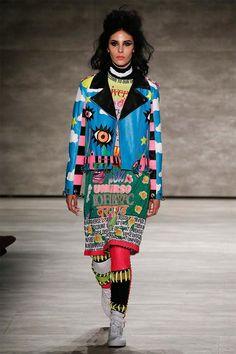 VFiles Fall 2015 Ready-to-Wear Fashion Show Quirky Fashion, Colorful Fashion, High Fashion, Winter Fashion, Fashion Show, Fashion Design, Queer Fashion, Runway Fashion, Fashion Beauty