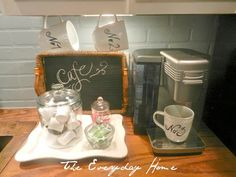 My mini-coffee station, it greets me every morning!