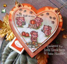 Blankina creations: Autumn colours, herfstkleuren, colori autunnali challenge Kraftin Kimmiestamps