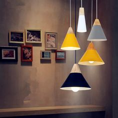 Pendant Lights Lustres Abajur Pendant Lamp Luminaire Hanglamp Colorful Aluminum Lamp Shade For Home Lighting Dining Room Lampsha-in Pendant Lights from Lights & Lighting on Aliexpress.com | Alibaba Group
