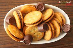 Rolo-stuffed Ritz Crackers~ Last Minute Treats that will disappear fast!