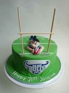 Blue Bulls Rugby Cake