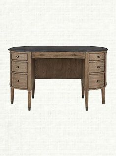 Belmont Writing Desk With Bluestone Top In Natural - Arhaus :: $1600