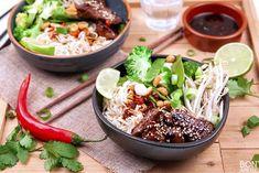 Beef bowl met noedels en verse groente - Bonapetit Beef Recipes, Healthy Recipes, Healthy Food, Sushi Bowl, Poke Bowl, Group Meals, Cobb Salad, Rice, Dinner