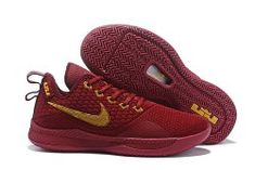 e48430118532 Nike Lebron Witness 3 Wine Red Gold Men s Basketball Shoes