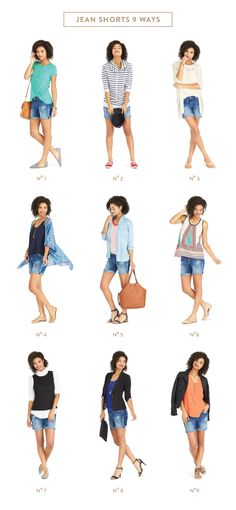Denim shorts are the ultimate summer go-to look, but midway through the season... we're style struggling. Instead of reaching for the same outfit, day after day, here are 9 news ways to reinvent your favorite denim cutoffs. Sign up for Stitch Fix for fashion finds & style tips like these.