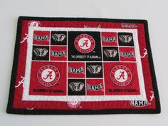 Quilted Mug Rug for your favorite University by SeasonalStitches