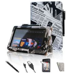 "#awesome FINTIE Newspaper Style PU Leather Folio Case Cover Value Package with Free Screen Protector/Stylus/USB cable for Amazon Kindle Fire 7"" TabletS   - http://wp.me/p291tj-dJ"