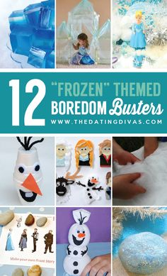 Frozen Themed Activities for Everyone to enjoy! How fun are these? www.TheDatingDivas.com