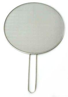 Pfannen-Spritzschutz Edelstahl groß 33 cm