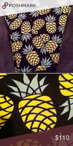 NEW TC LULAROE VINTAGE UNICORN PRINT LEGGINGS! TC LULAROE LEGGINGS! Vintage PINEAPPLE with BLACK background! Gorgeous! BRAND NEW!! These are EXTREMELY HIGHLY SOUGHT AFTER! You will not find these anywhere! MAJOR UNICORN PRINT! Unicorn print basically just means any LLR print that is highly sought after or hard to find! Lularoe only makes about 2,000-3,000 pieces of clothing with each print so if you like a print you'd better scoop it up or you may never see it again! These are to die for…