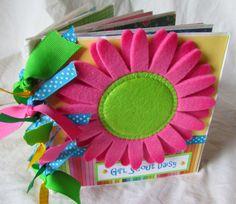 GIRL SCOUT DAISY Paper Bag Scrapbook Album by JourneysOfJoy, $28.00