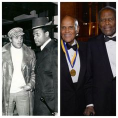 Then & Now Makers *tcm. Awe struck by these two. Celebrities Then And Now, Black Celebrities, Celebs, Top 100 Albums, Calypso Music, Harry Belafonte, Vintage Black Glamour, Best Friends Forever, African American History