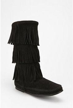 Minnetonka Triple Fringe Boot - StyleSays