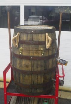 Whiskey Barrel BBQ Smoker.......  I've never seen one like it!