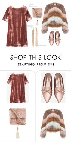 """""""Velvet Shift Dress'"""" by dianefantasy ❤ liked on Polyvore featuring Toast, Brother Vellies, Urbancode, Charlotte Chesnais, polyvorecommunity, polyvoreeditorial and familydinner"""