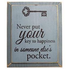 Key to Happiness Plaque