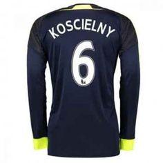 7f40b9a23f5 ... Arsenal FC 16-17 Season Third LS 6 Koscielny Soccer Jersey G902 ...