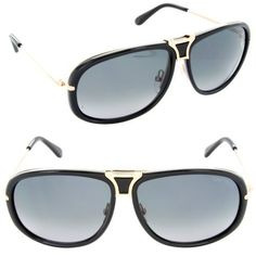 Tom Ford Robbie FT0286 Sunglasses - 01B Glossy Black (Gray Gradient Lens) - 61mm Tom Ford. Save 35 Off!. $329.98