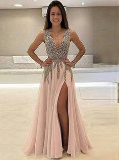 2019 Charming Custom V neck Sleeveless Side Sleeves Most Popular Affordable High Quality Prom Dresses Sleeveless Prom Dress V-neck Prom Dress Custom Prom Dress 2019 Prom Dress Prom Dress Prom Dresses 2019 Gorgeous Prom Dresses, V Neck Prom Dresses, Pink Prom Dresses, Tulle Prom Dress, Cheap Prom Dresses, Dance Dresses, Simple Dresses, Evening Dresses, Sleeveless Dresses