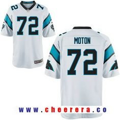 Men's 2017 NFL Draft Carolina Panthers #72 Taylor Moton White Road Stitched NFL Nike Elite Jersey