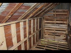 How to Build Free or Cheap Shed from Pallets DIY Garage Storage Pt 5 ▶ How to. How to Build Free or Cheap Shed from Pallets DIY Garage Storage Pt 5 ▶ How to Build Free or Chea Pallet Storage, Diy Garage Storage, Shed Storage, Garage Organization, Storage Ideas, Outdoor Storage, Organizing, Pallet Barn, Pallet House