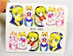 Waterdecal, Sailormoon Girls Nail wrap, Uranus, Chibi, Anime Nail Art  | eBay